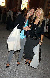 Left to right, ARABELLA MUSGRAVE and HANNAH SANDLING at a party to celebrate the Stella McCartney's unique collaboration with fashion store H&M at St.Olavs, Tooley Street, London SE1 on 25th October 2005.<br />