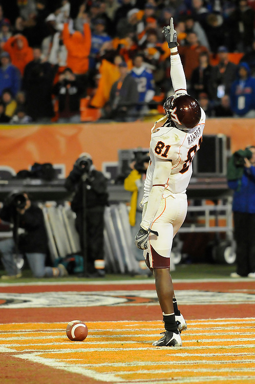 January 3, 2008 - Miami Gardens, FL<br /> <br /> Justin Harper #81 of the Virginia Tech Hokies in action during Kansas' 24-21 victory over Virginia Tech in the 2008 Orange Bowl Classic at Dolphin Stadium in Miami Gardens, Florida.<br /> <br /> JC Ridley/CSM