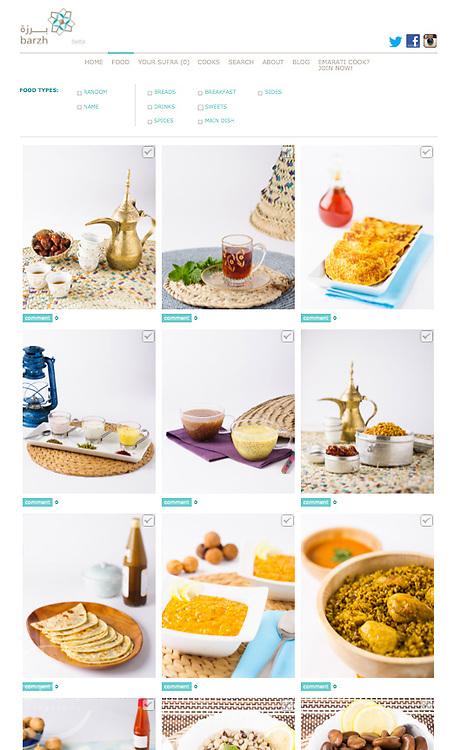 Screen shot Barzh.ae web page