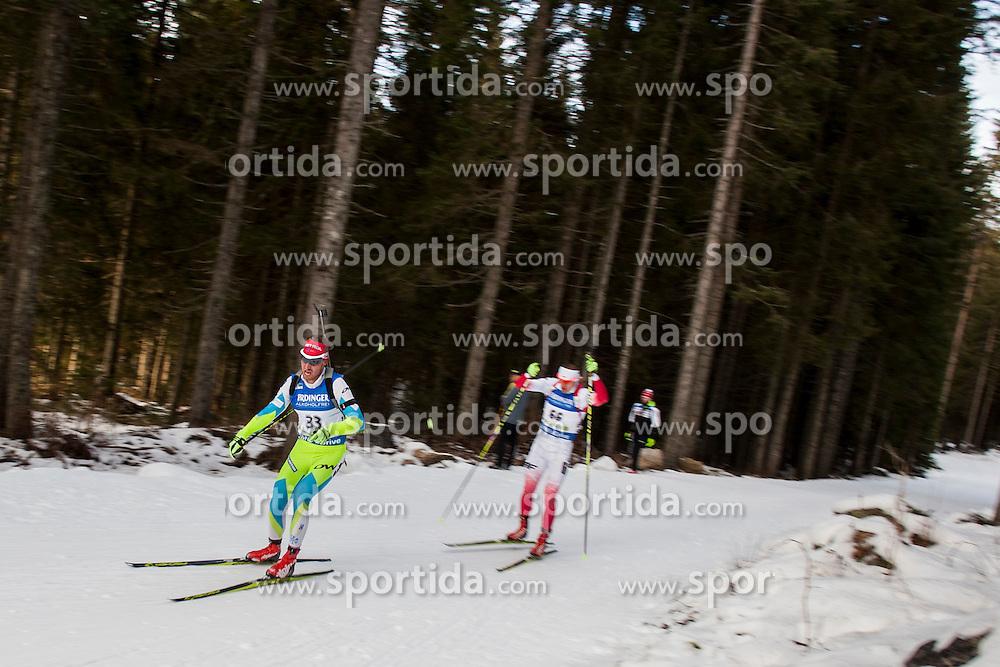 Klemen Bauer (SLO) during Men 10 km Sprint at day 1 of IBU Biathlon World Cup 2015/16 Pokljuka, on December 17, 2015 in Rudno polje, Pokljuka, Slovenia. Photo by Urban Urbanc / Sportida