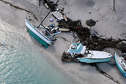 September 13, 2017 - Duck Key, Florida, U.S.- Damaged boats in Key West after Hurricane Irma hit the Florida Keys, on Wednesday. (Credit Image: © Mike Stocker/TNS via ZUMA Wire)