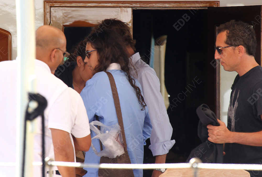 26.AUGUST.2012. CORSICA<br /> <br /> **EXCLUSIVE PICTURES** <br /> <br /> NO WEB/NO BLOG<br /> <br /> THE NEW LOVE OF PRINCESS CHARLOTTE CASIRAGHI,  COMEDIAN AND ACTOR GAD ELMALEH WAS INVITED ABOARD THE BOAT OF THE PRINCELY FAMILY THE PACHA III TO JOIN THEM ON A CRUISE AROUND THE MEDITERRANEAN SEA. LATE IN THE AFTERNOON THE COUPLE LEFT THE BOAT FOR A WALK IN TOWN WITH ANDREA CASIRAGHI AND HIS FIANC&Eacute;E TATIANA.  <br /> <br /> BYLINE: OPTICPHOTOS.NET/EXCLUSIVEPIX<br /> <br /> *THIS IMAGE IS STRICTLY FOR UK NEWSPAPERS AND MAGAZINES ONLY*<br /> *FOR WORLD WIDE SALES AND WEB USE PLEASE CONTACT OPTICPHOTOS - 0208 954 5968*