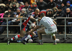 Tom Varndell of Bristol Rugby in action against Bath Rugby - Mandatory by-line: Paul Knight/JMP - 13/01/2017 - RUGBY - Ashton Gate - Bristol, England - Bristol Rugby v Bath Rugby - European Challenge Cup