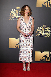 Emilia Clarke, at the 2016 MTV Movie Awards, Warner Bros. Studios, Burbank, CA 04-09-16. EXPA Pictures © 2016, PhotoCredit: EXPA/ Photoshot/ Martin Sloan<br /> <br /> *****ATTENTION - for AUT, SLO, CRO, SRB, BIH, MAZ, SUI only*****