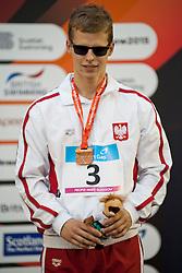 MAKOWSKI Wojciech Artur POL at 2015 IPC Swimming World Championships -  Men's 100m Backstroke S11 PODIUM