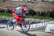 Women Junior #163 (RYABCHIKOVA Xenia) RUS at the 2018 UCI BMX World Championships in Baku, Azerbaijan.