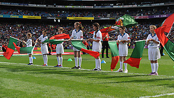 Mayo Flag Bearers pictured at the All Ireland Football Final<br /> Pic Conor McKeown