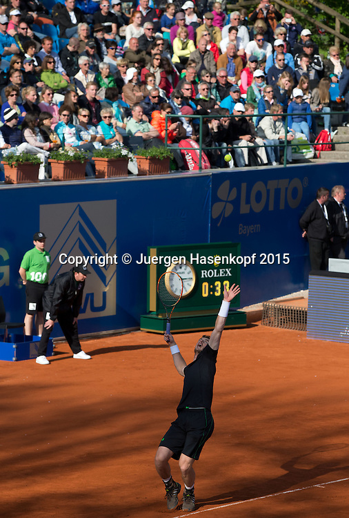 Andy Murray und Jean-Julien Rojer<br /> <br /> Tennis - BMW Open - ATP -   - Muenchen - Bayern - Germany  - 29 April 2015. <br /> &copy; Juergen Hasenkopf