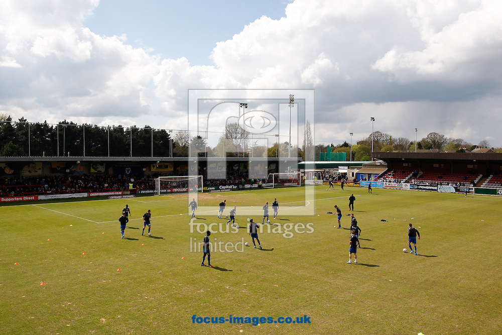 Picture by Andrew Tobin/Focus Images Ltd +44 7710 761829.27/04/2013. General views of the AFC Wimbledon ground before the npower League 2 match at the Cherry Red Records Stadium, Kingston.
