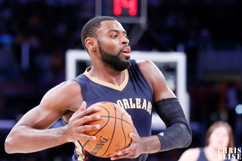 07 December 2014: New Orleans Pelicans forward Tyreke Evans (1) is seen during the New Orleans Pelicans 104-87 victory over the Los Angeles Lakers, at the Staples Center, Los Angeles, California, USA.