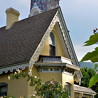 Arnett-Fullen House in Boulder, Colorado<br /> This vintage home on Pearl Street in Boulder was built in 1877 for Willamette Arnett, a local stock dealer. After he died in 1901 during the Yukon's Klondike Gold Rush, the Victorian residence with the multi-colored slate roof was owned by the Fullen family. It later served as the offices for Historic Boulder, Inc. before again becoming a family home. This is a beautiful example of the city's 1,300 landmark properties within 10 historic districts. Tours of notable buildings are available for architecture lovers. Believers of paranormal activities also enjoy this house's haunted stories.