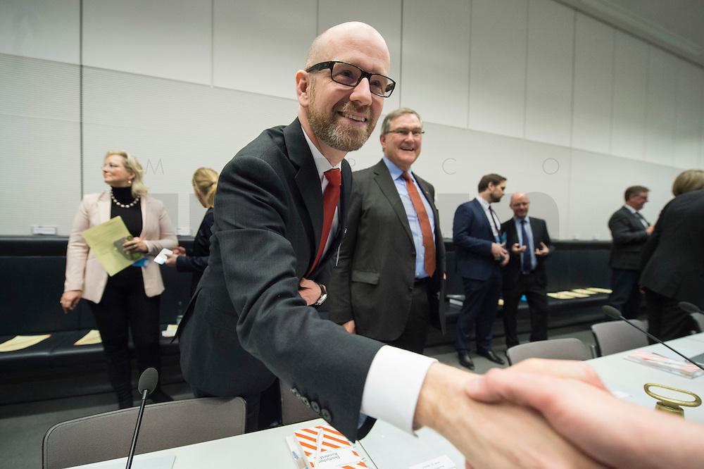 11 FEB 2017, BERLIN/GERMANY:<br /> Peter Tauber, CDU Generalsekretaer, schuettelt eine Hand, , vor Beginn der CDU/CSU Fraktionssitzung am Vortag der Bundesversammlung, Reichstagsgebaeude, Deutscher Bundestag<br /> IMAGE: 20170211-01-001