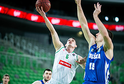 Jan Span of Petrol Olimpija during basketball match between KK Petrol Olimpija and KK Rogaska in Round #5 of Liga Nova KBM za prvaka 2018/19, on March 31, 2019, in Arena Stozice, Ljubljana, Slovenia. Photo by Vid Ponikvar / Sportida