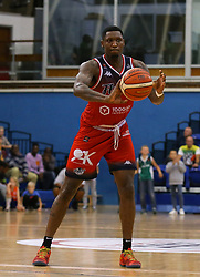 Fred Thomas of Bristol Flyers passes the ball - Photo mandatory by-line: Arron Gent/JMP - 28/09/2019 - BASKETBALL - Crystal Palace National Sports Centre - London, England - London City Royals v Bristol Flyers - British Basketball League Cup