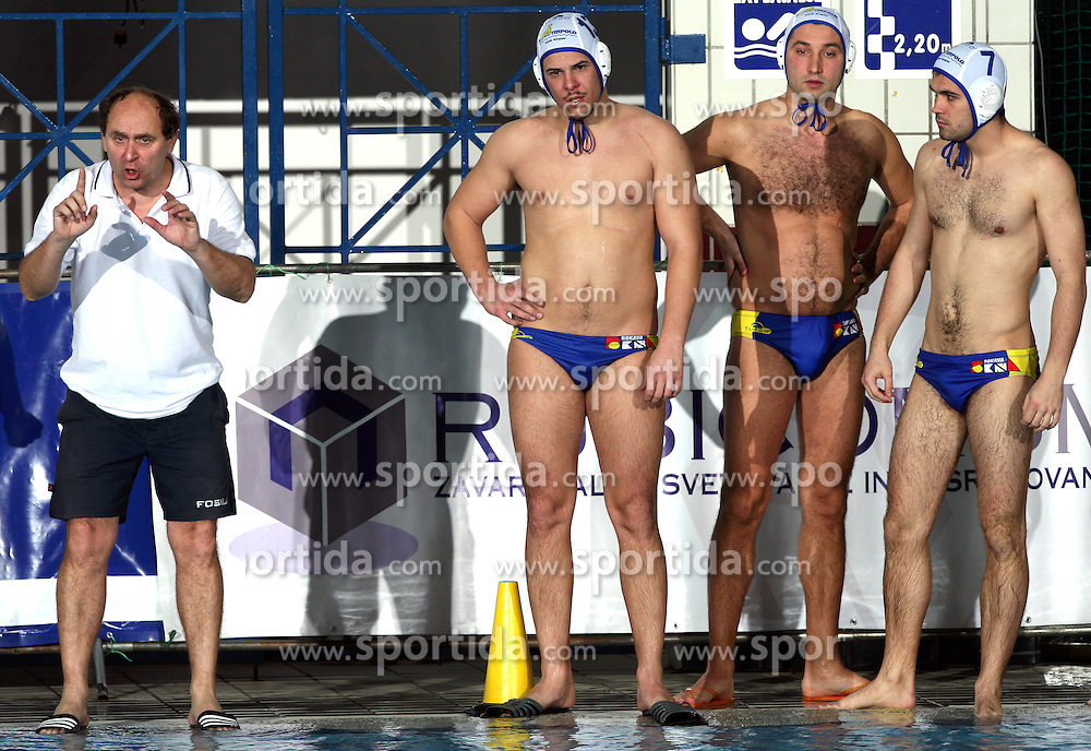 Coach of Rokava Koper Marino Cetin at water polo match Rokava Koper, Slovenia vs ASV Wien, Austria in  quarterfinal of International water polo Alpe Adria league in Kranj, Slovenia, on March 7, 2008.  (Photo by: Vid Ponikvar / Sportal Images)/ Sportida)
