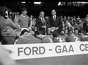 20/05/1984<br /> 05/20/1984<br /> 20 May 1984<br /> Ford G.A.A. Centenary Finals at Croke Park, Dublin.<br /> John Fenton (left), Captain of the winning Cork team about to accept the cup.