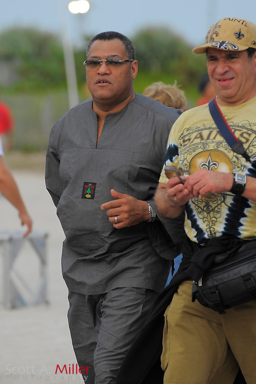 Miami Beach, FL; Movie Star Laurence Fishburne taking in the sights on South Beach in Miami on Feb. 5, 2010. The actor is perhaps best known for his roles as Morpheus in the Matrix science fiction film trilogy.©2010 Scott A. Miller