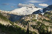 Mount Challenger, seen from Tapto Lakes Basin on Red Face Peak,North Cascades National Park