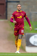 Charles Dunne (#18) of Motherwell FC during the Ladbrokes Scottish Premiership match between St Johnstone and Motherwell at McDiarmid Stadium, Perth, Scotland on 11 May 2019.