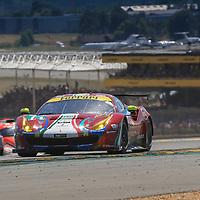 #71, AF Corse Ferrari, Ferrari 488 GTE, driven by: Davide Rigon, Sam Bird, Miguel Molina, 24 Heures Du Mans 85th Edition, 17/06/2017,