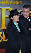 24.NOVEMBER.2011. LONDON<br /> <br /> SALMA HAYEK AND ANTONIO BANDERAS ATTENDING THE UK PREMIERE OF PUSS IN BOOTS HELD AT THE EMPIRE, LEICESTER SQUARE IN LONDON.<br /> <br /> BYLINE: EDBIMAGEARCHIVE.COM<br /> <br /> *THIS IMAGE IS STRICTLY FOR UK NEWSPAPERS AND MAGAZINES ONLY*<br /> *FOR WORLD WIDE SALES AND WEB USE PLEASE CONTACT EDBIMAGEARCHIVE - 0208 954 5968*