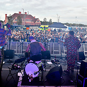 The Turbans performs at the EFG London Jazz Festival SummerStage at the LONDON Royal Albert Dock, 0n 31 August 2019, London, UK.