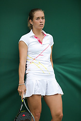 LONDON, ENGLAND - Monday, June 22, 2009: Klara Zakopalova (CZE) during her Ladies' Singles 1st Round defeat on day one of the Wimbledon Lawn Tennis Championships at the All England Lawn Tennis and Croquet Club. (Pic by David Rawcliffe/Propaganda)