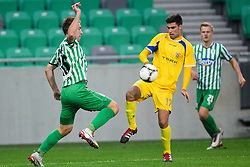 Nikola Nikezic #18 of Olimpija and Marko Kovjenic #17 of Domzale during football match between NK Olimpija Ljubljana and NK Domzale in 20th Round of PrvaLiga NZS 2012/13  on November 17, 2012 in SRC Stozice, Ljubljana, Slovenia.(Photo By Matic Klansek Velej / Sportida)