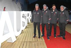 09.02.2018, Austria House, Pyeongchang, KOR, PyeongChang 2018, Pressekonferenz, im Bild V:L:Reichelt Kriechmayr, Franz, Mayer // V:L:Reichelt Kriechmayr, Franz, Mayer during a Pressconference of the Austrian Olympic Team in the Austria House in Pyeongchang, South Korea on 2018/02/09. EXPA Pictures © 2018, PhotoCredit: EXPA/ Erich Spiess
