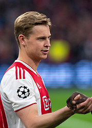 08-05-2019 NED: Semi Final Champions League AFC Ajax - Tottenham Hotspur, Amsterdam<br /> After a dramatic ending, Ajax has not been able to reach the final of the Champions League. In the final second Tottenham Hotspur scored 3-2 / Frenkie de Jong #21 of Ajax