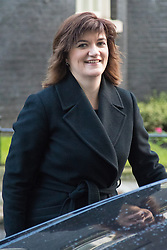 Downing Street, London, February 2nd 2016. Education Secretary Nicky Morgan leaves No 10 after attending the weekly Cabinet meeting. ///FOR LICENCING CONTACT: paul@pauldaveycreative.co.uk TEL:+44 (0) 7966 016 296 or +44 (0) 20 8969 6875. ©2015 Paul R Davey. All rights reserved.