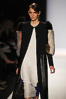 Zuzanna Bijoch walks the runway wearing BCBG MAXAZRIA Fall 2012 during Mercedes-Benz Fashion Week in New York City,  on February 9th, 2012