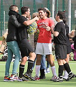 30.MARCH.2013. ESSEX<br /> <br /> TOWIE CAST SEEN PLAYING A FRIENDLY 5 A SIDE FOOTBALL MATCH IN ESSEX. BUT HALF WAY INTO THE SECOND HALF THE GAME TURNED UGLY WHEN RICKY RAYMENT AND DANNY WALIA CAME TO BLOWS ON THE PITCH AFTER WORDS WERE EXCHANGED AND A FIGHT BEGAN. DANNYS MATE JACK STEPPED IN TO HELP HIS MATE DANNY WHILE FRANKIE ESSEX RAN ONTO THE PITCH AND STARTED TO SHOUT AND SCREAM AT RICKY RAYMENT TELLING HIM YOUR OUT OF ORDER. RICKYS GIRLFRIEND THEN RUNS ONTO THE PIYCH TO DEFEND HER BOYFIREND AND CLASHING WITH FRANKIE ESSEX.CAST MEMBERS WERE SEEN TRYING TO PULL THEM APART WITH BOBBY NORRIS GRABING RICKY AND PULLING HIM AWAY WHILST DANNYS SISTER JASMINE RAN ON THE PITCH AND LUNGED AT RICKY RAYMENT SREAMING LEAVING MY BROTHER ALONE. THE REF THEN TOLD FRANKIE TO LEAVE THE PITCH AND THEN BEGAN TO HAVE AN ARGUMENT ON THE TOUCH LINE WITH JESSICA WRIGHT. ROCKAFELLAS FC LOST TO JAMES ARGENT SIDE FOOTBALL NUTTERS<br /> <br /> BYLINE: EDBIMAGEARCHIVE.CO.UK<br /> <br /> *THIS IMAGE IS STRICTLY UK MAGAZINES ONLY*