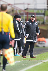 Ayr United&rsquo;s manager Ian McCall. <br /> Dunfermline 3 v 2 Ayr United, Scottish League One played at East End Park, 13/2/2016.