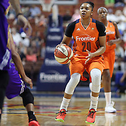 UNCASVILLE, CONNECTICUT- JULY 15:  Alex Bentley #20 of the Connecticut Sun in action during the Los Angeles Sparks Vs Connecticut Sun, WNBA regular season game at Mohegan Sun Arena on July 15, 2016 in Uncasville, Connecticut. (Photo by Tim Clayton/Corbis via Getty Images)