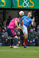 Football - 2018 / 2019 Emirates FA Cup - Fourth Round: Portsmouth vs. Queens Park Rangers<br /> <br /> Toni Leistner of Queens Park Rangers puts his head in where it hurts against Portsmouth's Brett Pitman at Fratton Park <br /> <br /> COLORSPORT/SHAUN BOGGUST