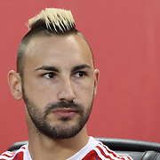 Diego Contento, Bayern Munich, during the FC Bayern Munich vs Chivas Guadalajara, friendly football match at Red Bull Arena, New Jersey, USA. 31st July 2014. Photo Tim Clayton