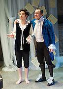 Prima La Musica<br /> Opera At Home Ensemble<br /> at The Arcola Theatre, London, Great Britain <br /> 25th August 2011 <br /> Rehearsal <br /> Grimeborn The Opera Festival<br /> directed by Jose Manuel Gandia<br /> <br /> Dario Dugandzic (as Poeta)<br /> Victor Sgarbi (as Maestro)<br /> <br /> Photograph by Elliott Franks