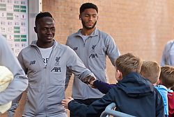 BURNLEY, ENGLAND - Saturday, August 31, 2019: Liverpool's Sadio Mane arrives before the FA Premier League match between Burnley FC and Liverpool FC at Turf Moor. (Pic by David Rawcliffe/Propaganda)