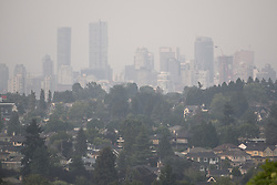 August 2, 2017 - Vancouver, British Columbia, Canada - Environment Canada has issued a special air quality advisory for the Metro Vancouver area as outflow winds from the British Columbia interior bring heavy smoke from still-burning wildfires to the lower mainland. People are being advised to avoid strenuous outdoor activities. (Credit Image: © Bayne Stanley via ZUMA Wire)