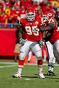 KANSAS CITY, MO - SEPTEMBER 26:   Ron Edwards #95 of the Kansas City Chiefs celebrates after a big tackle against the San Francisco 49ers at Arrowhead Stadium on September 26, 2010 in Kansas City, Missouri.  The Chiefs defeated the 49ers 31-10.  (Photo by Wesley Hitt/Getty Images) *** Local Caption *** Ron Edwards