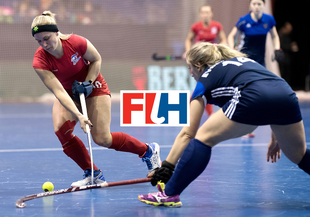 BERLIN - Indoor Hockey World Cup<br /> Women: Russia - Czech Republic<br /> foto: KYNDLOVA Klara.<br /> WORLDSPORTPICS COPYRIGHT FRANK UIJLENBROEK
