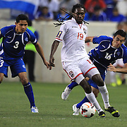 Keon Daniel, Trinidad and Tobago, in action during the El Salvador Vs Trinidad and Tobago CONCACAF Gold Cup group B football match at Red Bull Arena, Harrison, New Jersey. USA. 8th July 2013. Photo Tim Clayton