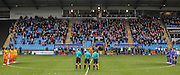 Remembrance Sunday during the The FA Cup match between FC Halifax Town and Wycombe Wanderers at the Shay, Halifax, United Kingdom on 8 November 2015. Photo by Simon Davies.