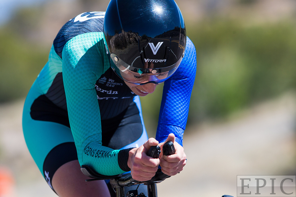SILVERY CITY, NM - APRIL 20: Jennifer Luebke (Hagens Berman/Supermint) during stage 3 of the Tour of The Gila on April 20, 2018 in Silver City, New Mexico. (Photo by Jonathan Devich/Epicimages.us)