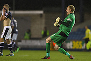 Picture by David Horn/Focus Images Ltd +44 7545 970036<br /> 28/01/2014<br /> Chris Kirkland of Sheffield Wednesday celebrates his team's first goal during the Sky Bet Championship match at The Den, London.
