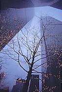 NYC, NY, World Trade Center, Twin Towers, designed by Minoru Yamasaki, International Style II, Manhattan