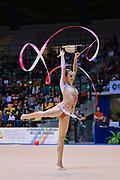 Alexandra Piscupescu atleta della Società Gymnica 96 di Forlì durante la seconda prova del Campionato Italiano di Ginnastica Ritmica.<br /> La gara si è svolta a Desio il 31 ottobre 2015.<br /> Alexandra è una ginnasta di origini rumene nata nel 1994.