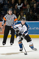 KELOWNA, CANADA, NOVEMBER 25: Spencer Wand #3 of the Kootenay Ice skates on the ice as the Kootenay Ice visit the Kelowna Rockets  on November 25, 2011 at Prospera Place in Kelowna, British Columbia, Canada (Photo by Marissa Baecker/Shoot the Breeze) *** Local Caption *** Spencer Wand;