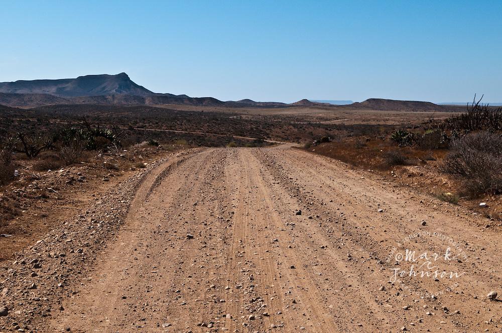 The long dusty road to Punto San Carlos, Baja California, Mexico